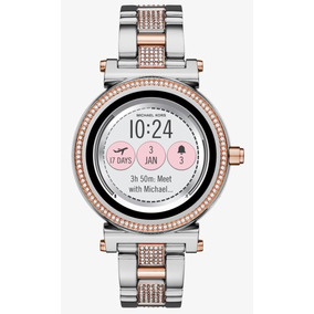 Reloj Michael Kors Smartwatch Sofie Silver Y Oro Rosa