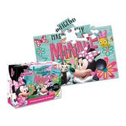 Rompecabezas Para Niños Disney Minnie De 25 Piezas De Ronda.