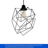 Iluminación Lámpara Deco Colgante Origami 1 Luz Rosca E Ch10