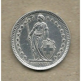 Suiza De Colección 2: 2 Francs 1958 Plata Xf+ C904
