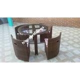 Mesa Pizza De Fibra Sintética Cadeira Área Externa