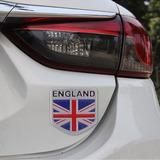 Para Vehiculo 3d Metal Bandera Inglaterra Etiqueta Engomada