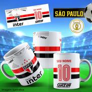 Caneca Personalizada Futebol São Paulo Com Nome E Número
