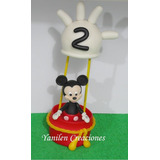 Mickey Mouse Porcelana Fría Adorno Para Torta.