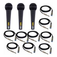 2 Microfono + Combo De Cable De Microfono Hamc