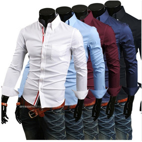 Camisas French Stripes Slimfit Shirt Formales Casuales Lujo