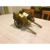 Carreta Porta Vino De Madera
