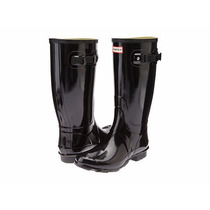 Botas Hunter Original Alta Lluvia Daman Negra Gloss