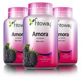 Amora 500mg - Controle Da Menopausa - Fitoway 3x60 Cápsulas