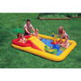 Piscina C Escorregador Playcenter Oceano Inflável Intex 458l