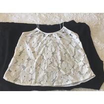 Blusa Tipo Batinha Branca Rendada - Riachuelo P