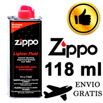 Gas Gasolina Zippo Liquido Encendedor 118ml Envio Gratis