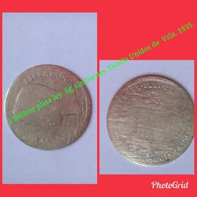Moneda Estados Unidos De Venezuela 1 Bolívar, Plata.