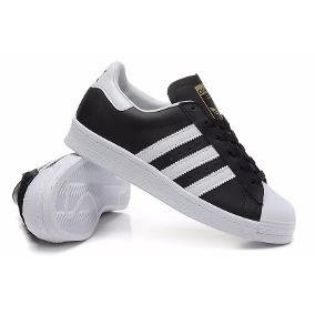 Zapatillas Superstar adidas Blancas Y Negro De Cuero!!!!!