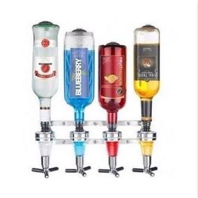 Suporte Dispenser Dosador De Bebidas Drink Bar 4 Garrafas