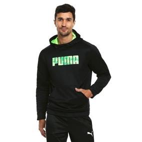 Sudadera Puma Con Gorro 100% Original Casual De Hombre Negra