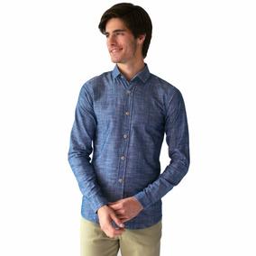 Camisa Casual Hombre Algodón Slim Fit Rack & Pack