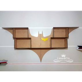 Prateleira Batman Mdf Cru 6mm Corte À Laser. Série Heróis