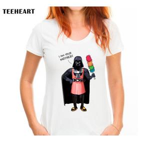 Tshirt Feminina Darth Vader Star Wars - Pronta Entrega