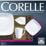Vajilla 16 Piezas Square Round Pure White Corelle - 1069958