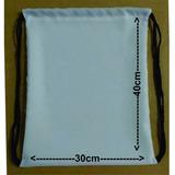 Kit 60 Mochilas Saco Para Sublimação Em Oxford Branco 30x40