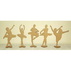 Kit 50 Bailarinas 15cm Lembrança 15anos Decoração Festa Mdf