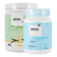 Wonu Pack Force Proteína Vainilla 500g + Colágeno Natural