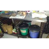 Mesa De Trabajo Para Panaderia Con Estantes Para Bandejas