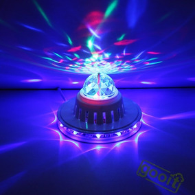 Bola Led Giratoria Estrella Crystal Light Dj Oferta