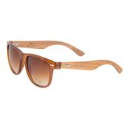 Óculos De Sol Feminino Marrom Bambu + Case Bamboo Promoção