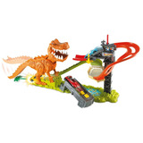 Pista Hot Wheels Ataque Dinossauro T-rex Mattel Ffw82