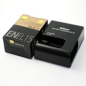 Cargador Nikon Mh-25 + Bateria Nikon En-el15 D600 D7000 D800