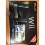 Wii Nintendo Wii Black Con Dos Juegos Sport Y Sport Resort