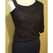 Nuevo! Minidress Vestido Negro En Blonda Talla S