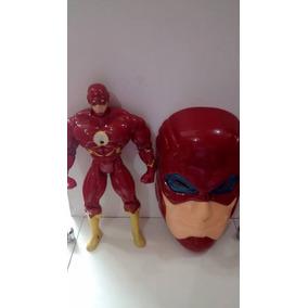Boneco Flash Musical 25cm Mais Mascara Liga Da Justiça