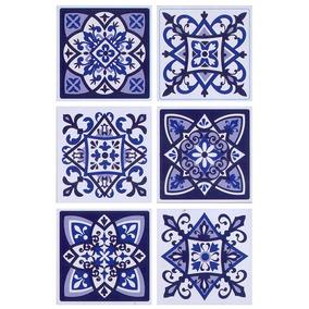 18 Wallstickers Autoadhesivos Azulejos Muresco 15x15 1623-1