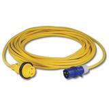 Cable Marinco Amarillo De 10 Mts Con Ficha H. 16 Amp Y Steck