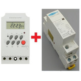 8fc41600058 1 Timer Temporizador 110vca De Painel + 1 Contator 110vca