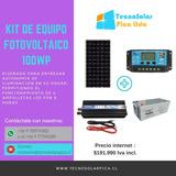Kit Fotovoltaico 100w-