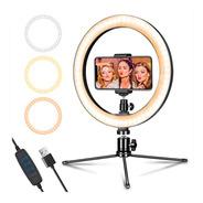Aro De Luz Led 3 Colores Anillo Maquillaje Ring Youtuber
