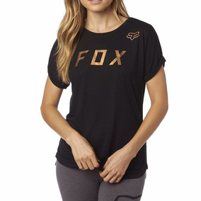 Remera Mujer Dama Fox Copper Manga Corta Negro Speed Rider