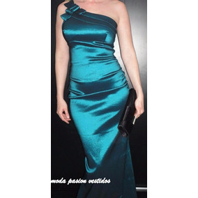 Vestido Fiesta Sirena Un Hombro Talles Y Colores Moda Pasión