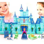 Castillo Princesas Frozen Elsa Anna Con Luz Y Sonido
