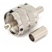 Conector Uhf Macho Crimp Para Cable Rg58 Marca Aim