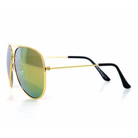 Óculos De Sol Aviador Ray-ban Dourado