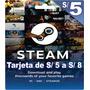 Tarjeta Steam De S/5 Para Dota 2 Y Juegos Steam