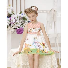 Vestido Impreso Oso Y Niña. Talla 9 A 10 Años Envio Gratis