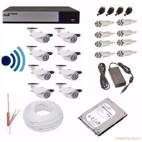 Kit Cftv Dvr Luxvision 11 Cameras Infra Hd Ahd Ir-cut Hd1tb