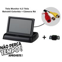 Tela Monitor 4.3 Tela Retrátil Colorido + Camera Ré Colorida