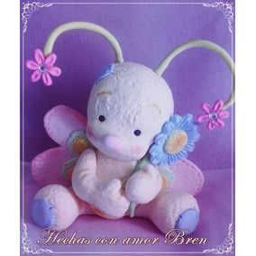 Mariposa En Porcelana Fria Adorno Baby Shower
